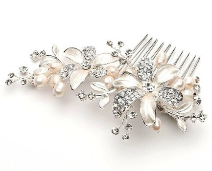 bridal hair accessories for short hair