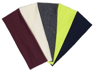 Raw Edge Sports & Yoga Headband Double Layer Cotton Spandex 4.5 inches